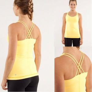 Lululemon | Free To Be Tank Burning Yellow